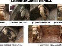 2.- CANECILLOS ABSIDE CENTRAL